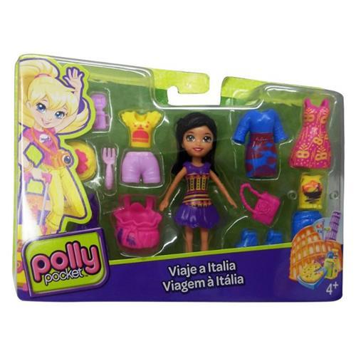 Boneca Polly Viagem A Itália Dvt27 Polly