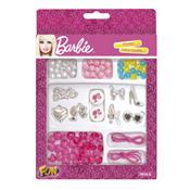 Conjunto Pulseira Infantil Miçangas Fashion Da Barbie 7614-3 Fun