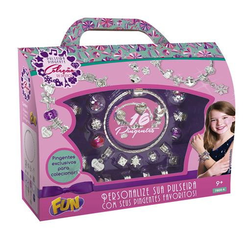 Conjunto Pulseiras Infantil Miçangas Fashion Da Barbie 7614-4 Fun