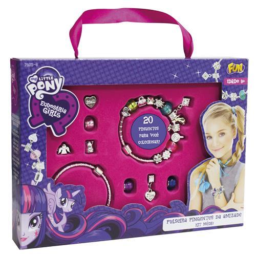 Pulseira E Pingentes Infantil Equestia Girls Média 7925-6 Fun