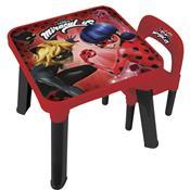 Mesa E Cadeira Infantil Miraculous Ladybug 8108-6 Fun