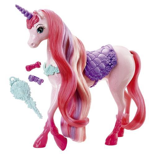 Boneco Unicórnio Barbie Fantasia Penteados Mágicos Dhc38