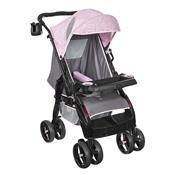 Carrinho De Passeio Upper Reclinável 4 Posições Rosa Tutti Baby