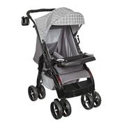 Carrinho De Passeio Upper Reclinável 4 Posições Cinza Tutti Baby