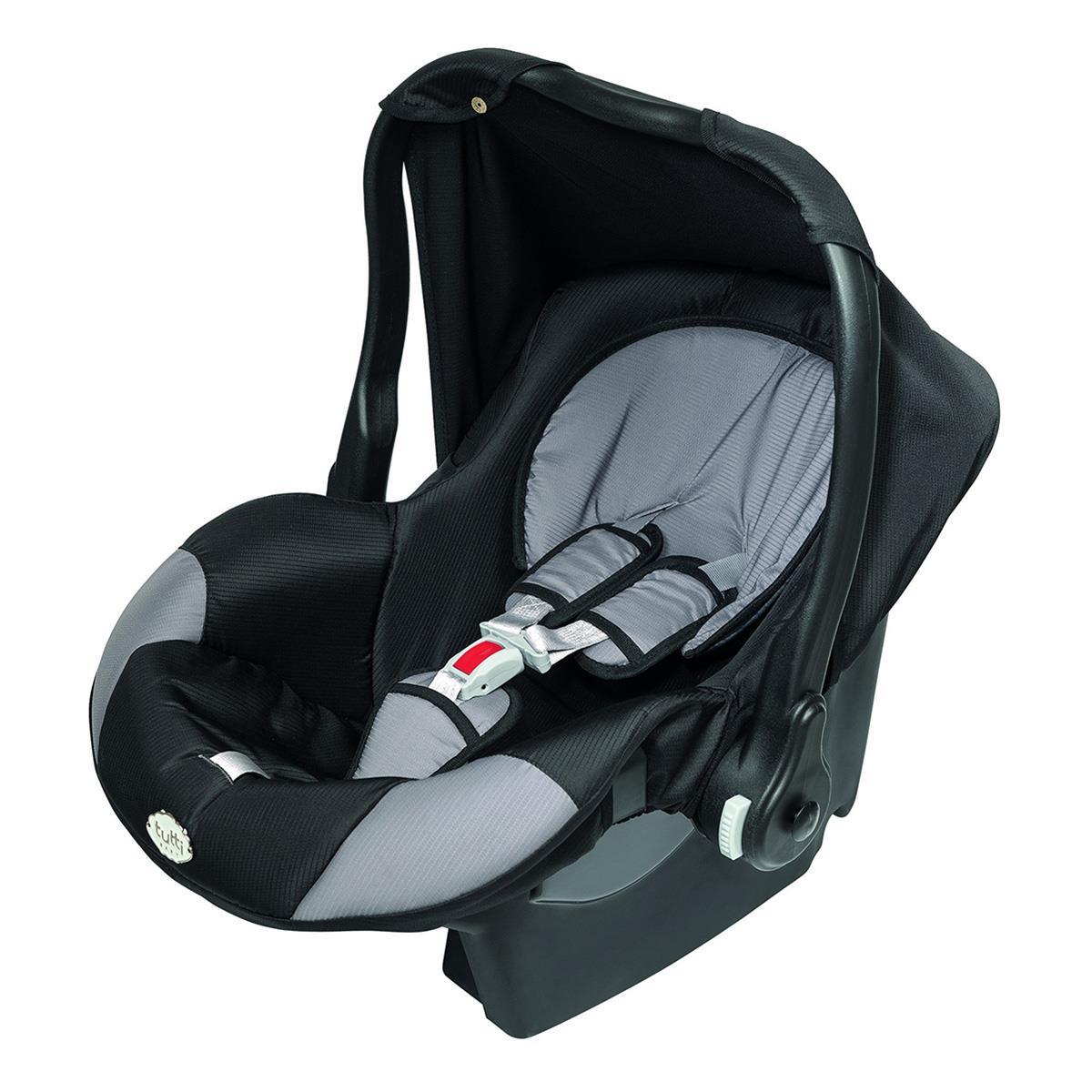 Bebê Conforto Nino Com Capota Upper Até 13 Kg Preto Tutti Baby