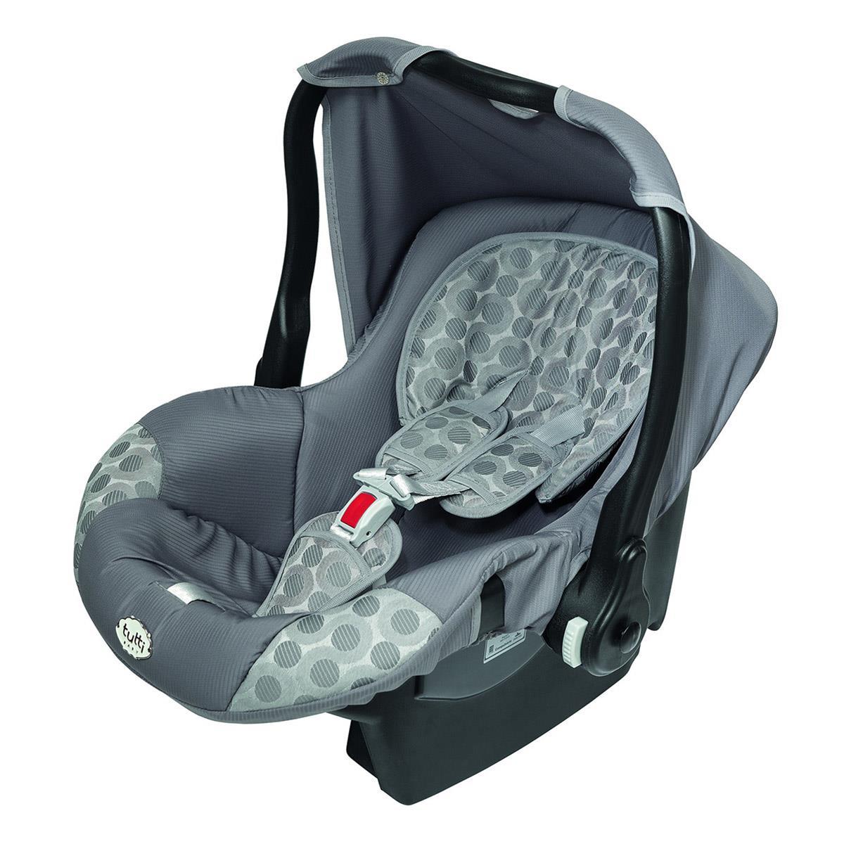 Bebê Conforto Nino Com Capota Upper Até 13 Kg Cinza Tutti Baby