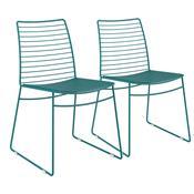 Kit 2 Cadeiras Em Couríssimo Para Sala Turquesa 1712 Móveis Carraro