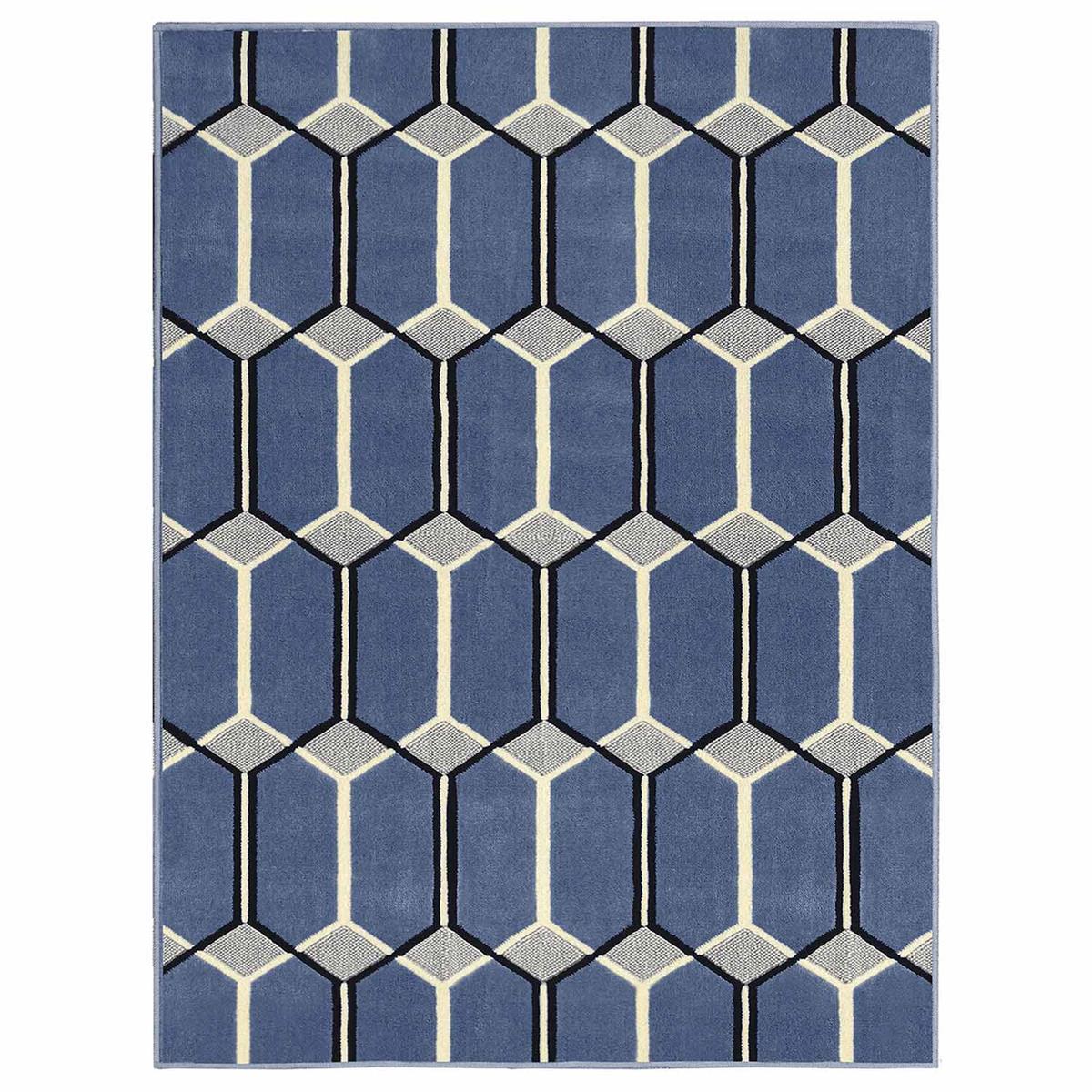 Tapete Para Sala Supreme Geom Trico 200x290cm Azul S O Carlos  -> Tapetes Geometricos Sala