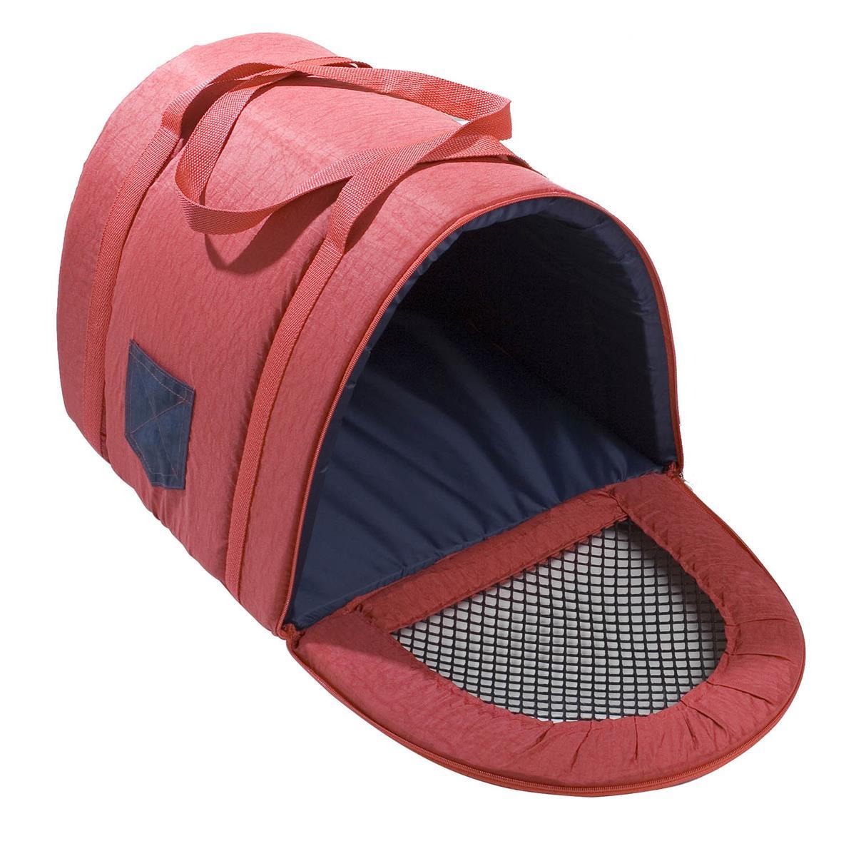 Transporte Fechado Em Nylon Para Pet Tamanho 2 Vermelho Fabrica Pet