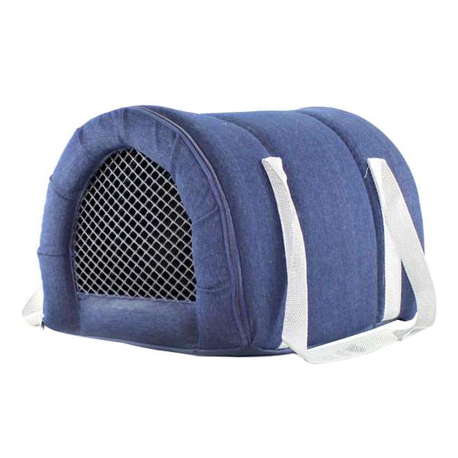 Transporte Fechado Para Pet Tamanho 1 Jeans Fabrica Pet