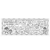 Tapete Infantil De Atividades Para Colorir Com Giz 8005-8 Fun