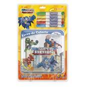 Livro De Pintura Batman E Super Amigos Pinte E Lave Fun