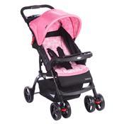 Carrinho Com Bebê Conforto Moove Até 15 Kg Rosa Trama Cosco