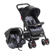 Carrinho Com Bebê Conforto Moove Até 15 Kg Cinza Trama Cosco
