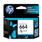 Cartucho De Tinta Hp 664 Tricolor 2,0 Ml Ink Advantage F6v28ab Hp Suprimentos