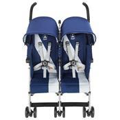 Carrinho Para Bebês Gêmeos Twin Triumph Medieval Azul Maclaren