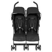 Carrinho Para Bebês Gêmeos Twin Techno Preto Maclaren
