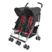 Carrinho Para Bebês Gêmeos Twin Triumph Preto E Vermelho Maclaren