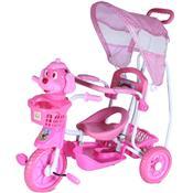 Triciclo Gangorra Infantil Cabeça De Cachorro Rosa Bel Brink