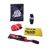 Kit Slackline 13M X 50Mm Com Cinta Catraca Red Nose