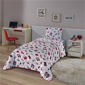 Edredom Solteiro Fashion 150 X 220 Cm Vermelho Lepper