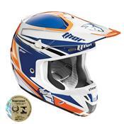 Capacete Motocross 56 Verge Flex Azul E Laranja 0110 Thor