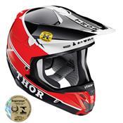 Capacete Motocross 60 Verge Pro Gp Vermelho E Preto 0110 Thor
