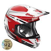 Capacete Motocross Verge Flex Vermelho E Prata 0110 Thor