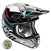 Capacete Motocross Verge Stack Preto E Prata 0110 Thor