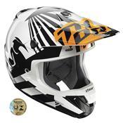 Capacete Motocross Verge Dazz Laranja E Branco 0110 Thor