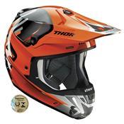 Capacete Motocross Verge Vort Laranja E Cinza 0110 Thor