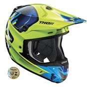 Capacete Motocross Verge Vort Verde E Azul 0110 Thor