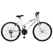 Bicicleta Emotion 18 Marchas Aro 26 Branca Master Bike