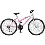 Bicicleta Emotion 18 Marchas Aro 26 Branca E Rosa Master Bike