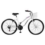 Bicicleta Ipanema Plus 21 Marchas Aro 26 Branca Master Bike