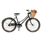 Bicicleta Feminina Aro 26 Bella Retro Preta Master Bike