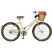 Bicicleta Aro 26 Feminina Bella Retro Bege Master Bike