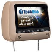 Encosto De Cabeça Slim Com Monitor 7 Pol Bege Techone