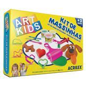 Kit 3 Massinhas Para Modelar + 11 Acessórios Art Kids Acrilex