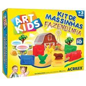 Kit Massinhas Fazendinha + 9 Acessórios Art Kids Acrilex