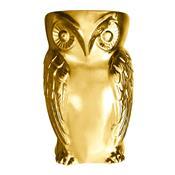 Puff Coruja Real Em Cerâmica Dourado Puf8005 By Haus