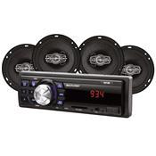 Kit Automotivo 4 Alto Falantes 6 Pol Mp3 12Vdc Au953 Multilaser