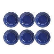Jogo 6 Pratos De Sobremesa Atenas Azul Navy 323154 Porto Brasil