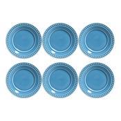 Jogo 6 Pratos De Sobremesa Atenas Azul 414154 Porto Brasil