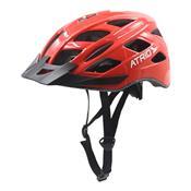 Capacete Led 2 Para Ciclismo Grande Vermelho Bi108 Átrio