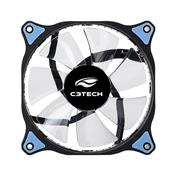 Cooler Fan Conector 3 Pinos 12Cm Led Azul F7-L130bl C3 Tech