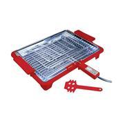 Churrasqueira Elétrica Platinum Grill 1700W Vermelha Anurb