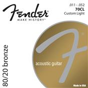 Encordoamento Para Violão Aço 0.011 Bronze 70Cl Fender