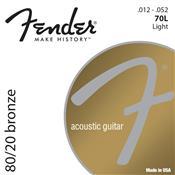 Encordoamento De Aço Para Violão 70 L Bronze Fender