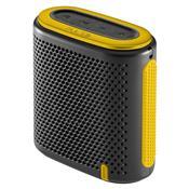 Caixa De Som Mini Bluetooth P2 10W Rms Preta E Amarela Sp238 Pulse
